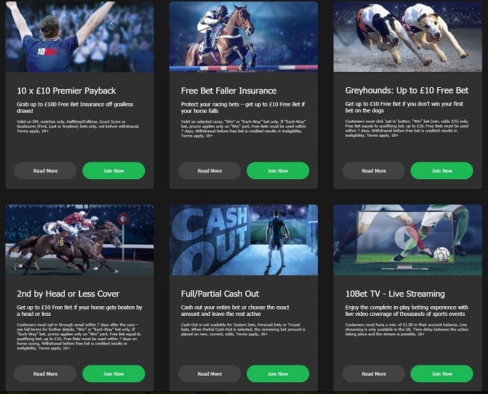 10Bet promotions