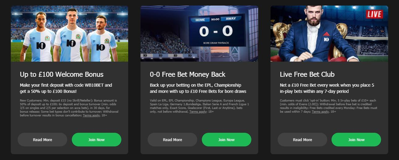 Other Promotions at 10Bet