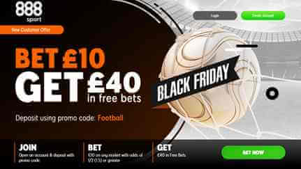 888Sport - New Customer Offer - Bet £10 Get £40 in free bets.